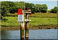 C8334 : Navigation marker, River Bann near Coleraine by Albert Bridge