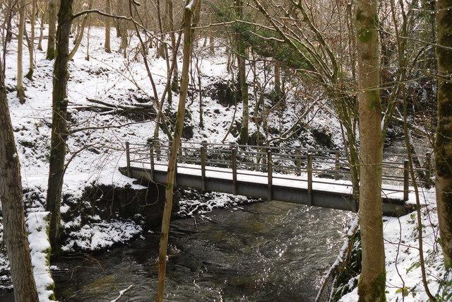 Footbridge over the Afon Clwyedog