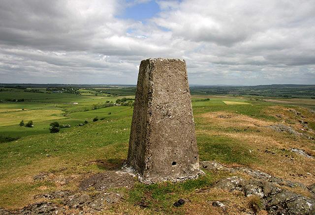 The triangulation pillar on Loudoun Hill