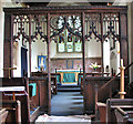 TF8807 : St Andrew's church in Holme Hale - C15 rood screen by Evelyn Simak