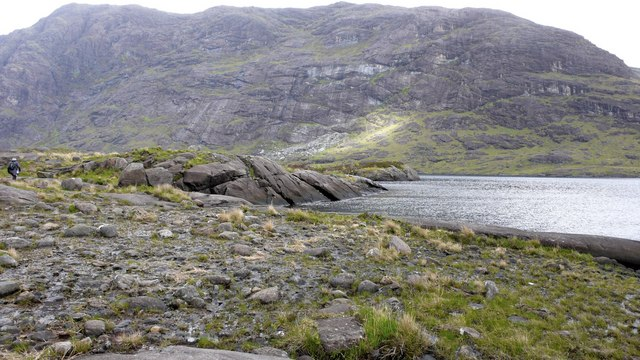 Coire Riabhach from the opposite shore of Loch Coruisk by Anthony O'Neil