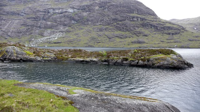 Islet in Loch Coruisk from the southern shore by Anthony O'Neil