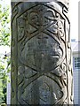 X0498 : Detail of carving on statue, Millennium Park, Lismore/Lios Mor by Mac McCarron