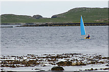 HP6309 : Laser Pico dinghy in Baltasound voe by Mike Pennington