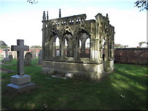 TA1181 : St Oswald's, Filey - Rudston Memorial by John S Turner