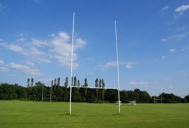 rugby posts at hopwood hall college  u00a9 bill boaden cc