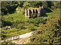 SJ8789 : Mersey Vale Nature Park, Bridge Remains by Peter Fuller