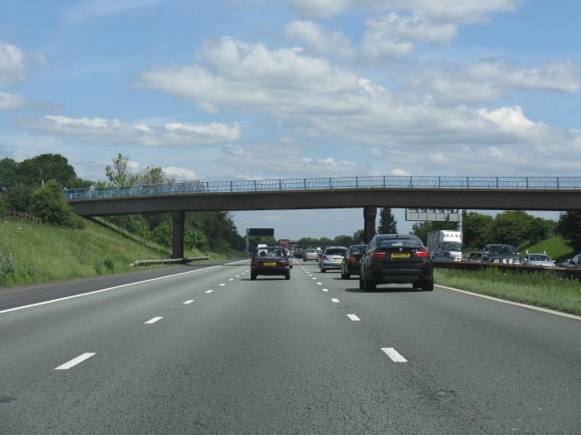 M6 motorway - Green Bank Farm bridge