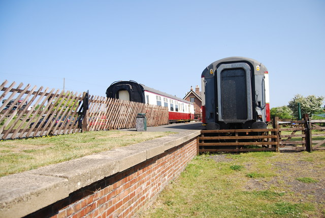Train carriages and platform, Hawsker Station
