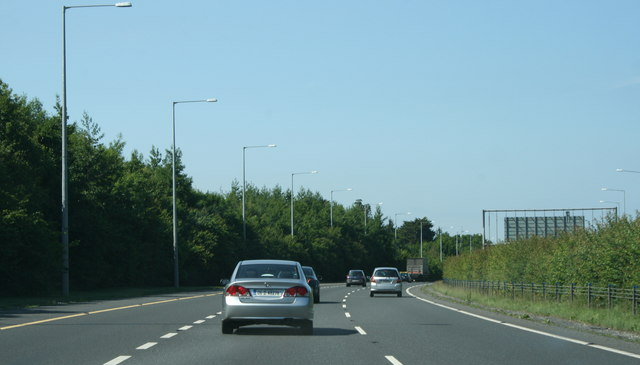 The M11, County Dublin