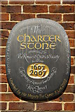 SU3521 : The Romsey Charter Stone (1) by Peter Trimming