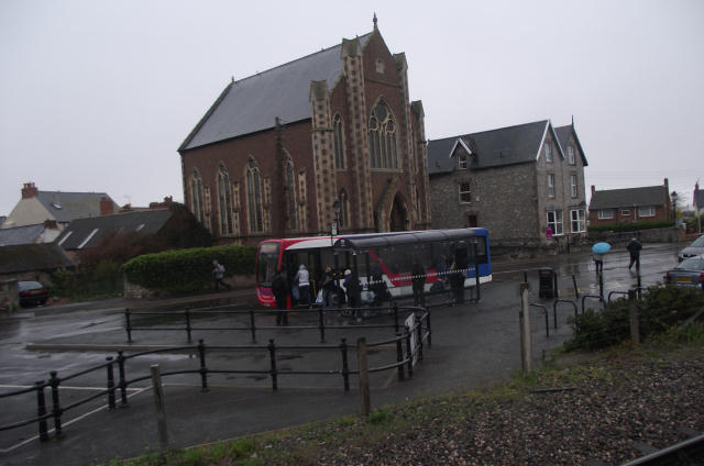 Bus stop on Harbour Road
