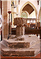 TF6211 : St Peter & St Paul, Watlington, Norfolk - Font by John Salmon