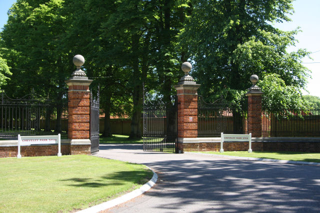 Main entrance to Cheveley Park Stud