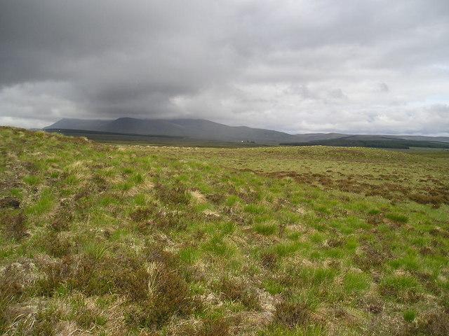 Open moorland below Cnoc an Fheoir Mhaol