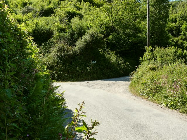 A footpath which leads from Nethercott Road to North Buckland Hill, near Heddon Mill