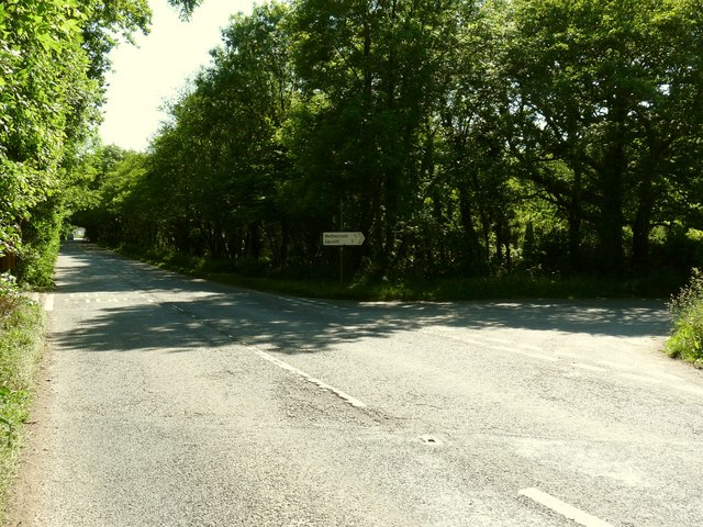 The A361 at the junction with Nethercott Road