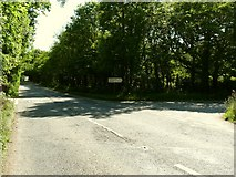 SS4939 : The A361 at the junction with Nethercott Road by Roger A Smith