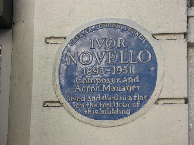 Ivor Novello plaque, Aldwych