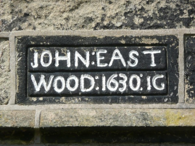 Date stone on cottages behind Eastwood Old Hall, Stansfield, Todmorden