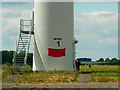 SU2391 : Turbine 1 base, Westmill Wind Farm, Watchfield by Brian Robert Marshall