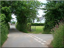 SH3434 : Minor road junction near Capel Bethel, Penrhos by Eric Jones