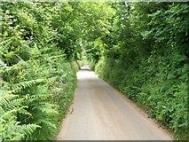 SH3434 : The road east of Capel Bethel, Penrhos by Eric Jones