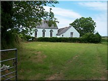 SH3434 : Capel Bethel viewed across farmland by Eric Jones