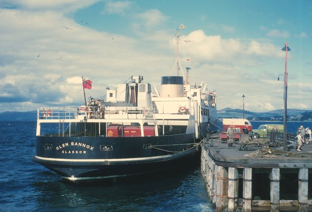 Glen Sannox at Fairlie Pier, Summer 1957