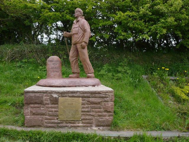 Statue to commemorate Wainwright's Coast to Coast Walk
