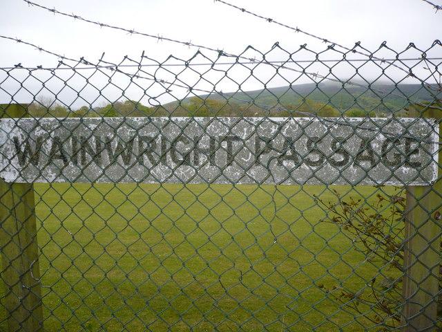 Sign on Wainwright's Coast to Coast Walk