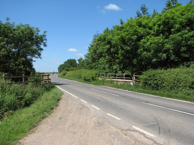Stainby: the B676 crosses the former High Dyke Branch