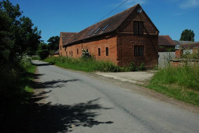 Farm buildings in Knighton