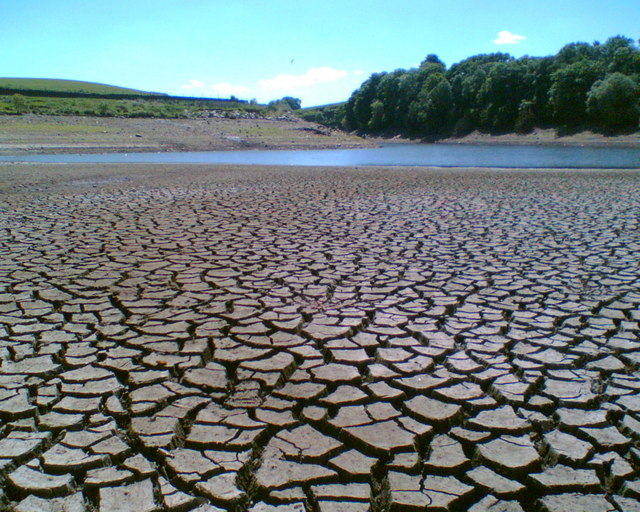 Drought, Holden Wood Reservoir, Haslingden Grane