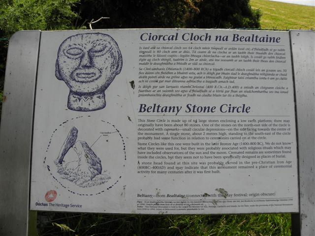 Information board, Beltany Stone Circle