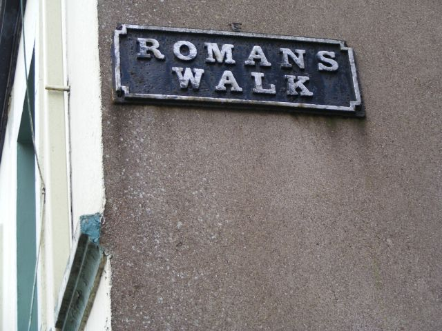 Romans Walk street sign, Shandon, Cork