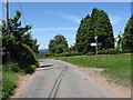 SO8266 : Rural junction near Battenton Farm by Peter Whatley