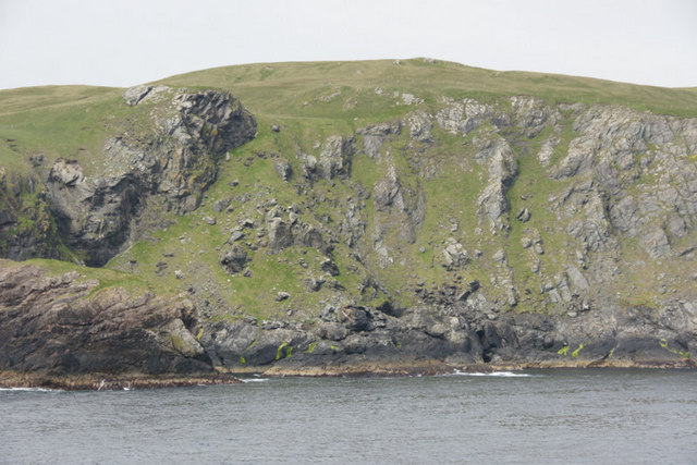 Cliffs below Ramna Beorgs, North Roe