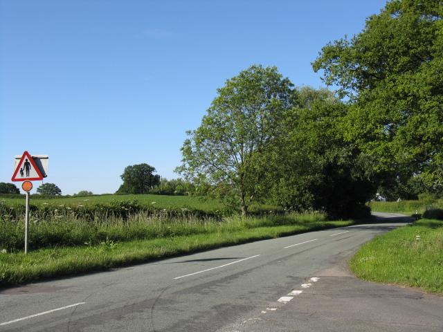 Clattercut Lane, looking northeast from the crossroads