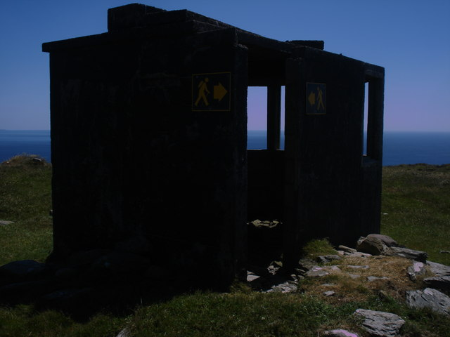 Unmarked lookout post near point 175