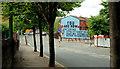 "J3373 : ""Heartland"" mural, Belfast by Albert Bridge"