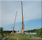 SO8453 : New Severn crossing taking shape by Andrew Darge