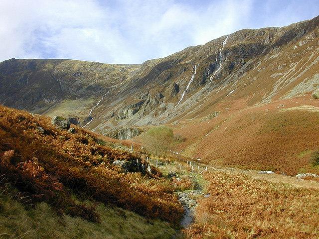 Waterfalls on Mynydd Moel
