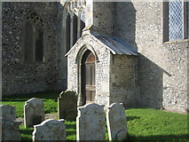 TG2834 : Priest's porch, St. Botolph, Trunch by Jonathan Thacker