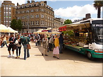 SZ0891 : Bournemouth: continental market in The Square by Chris Downer