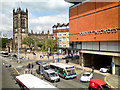 SJ8398 : Deansgate and Manchester Cathedral by David Dixon