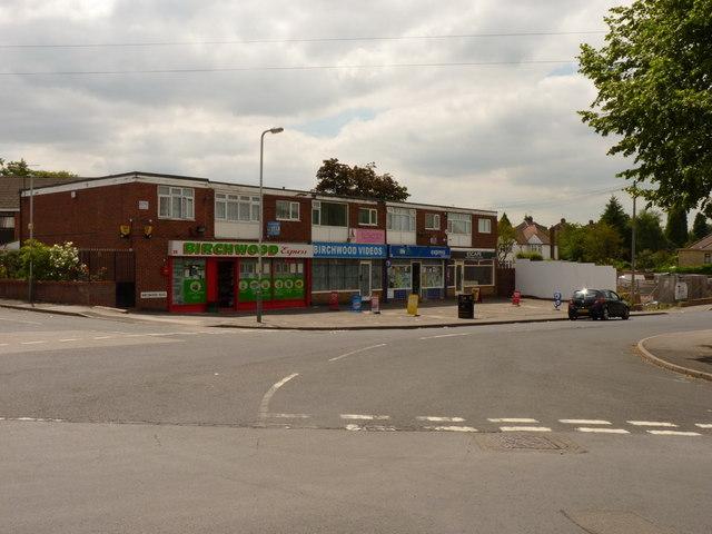 Shops on Birchwood Road, Goldthorn Hill