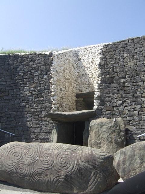 Entrance and light box at Newgrange Passage Tomb