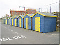 TR3470 : Beach Huts on Westbrook Promenade by Oast House Archive