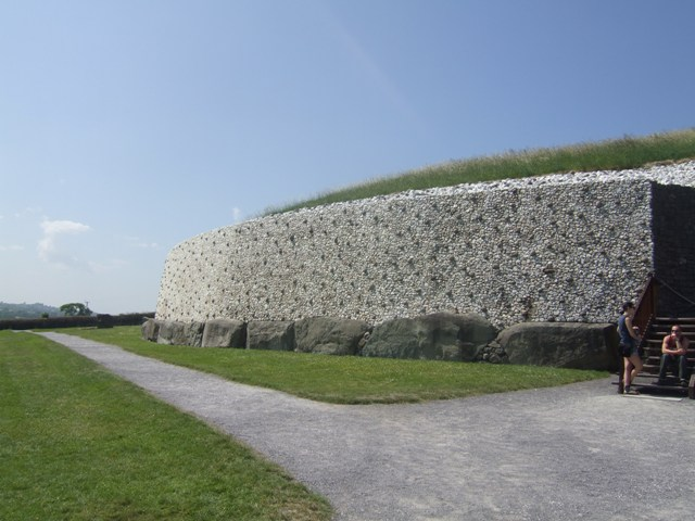 Outer wall at Newgrange Passage Tomb